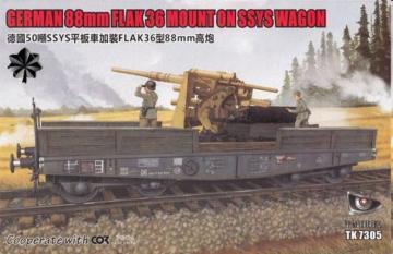 German 88mm Flak 36 mount on SSys Wagon · TMO TK7305I ·  T-Model · 1:72