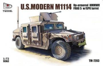 U.S.Modern M1114 Up-armored HMMWV FRAG 5 w/GPK turret · TMO TM7203 ·  T-Model · 1:72