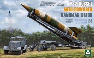 WWII German V-2 Rocket Transporter/Erect Meillerwagen+Hanomag SS100 · TAK 2030 ·  Takom · 1:35