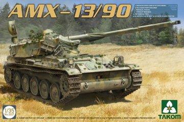 French Light Tank AMX-13/90 · TAK 2037 ·  Takom · 1:35