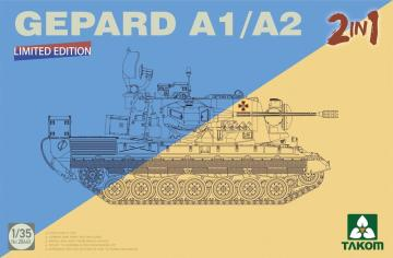 Bundeswehr Flakpanzer 1 Gepard SPAAG A1/ /A2  2in1 · TAK 2044 ·  Takom · 1:35
