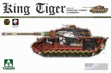 WWII German Heavy Tank Sd.KFZ.182 King Tiger Henschel Turret w/Zimmerit · TAK 2045S ·  Takom · 1:35