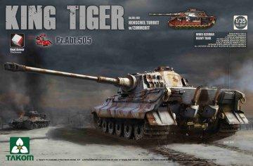 WWII German Heavy TAnk Sd.Kfz.182 King Tiger Henschel Turret w/Zimmerit · TAK 2047S ·  Takom · 1:35