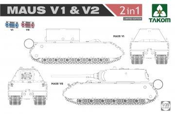 WWII Maus V1 & V2 - 2 in 1 (Limited Edition) · TAK 2050X ·  Takom · 1:35