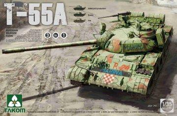 Russian Medium Tank T-55A (3 in 1) · TAK 2056 ·  Takom · 1:35
