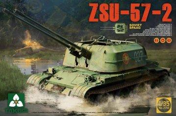 Soviet SPAAG ZSU-57-2  2 in 1 · TAK 2058 ·  Takom · 1:35