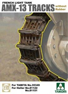 French Light Tank AMX-13 Tracks without Rubber · TAK 2060 ·  Takom · 1:35
