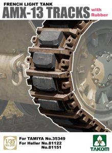 French Light Tank AMX-13 Tracks with Rub Rubber · TAK 2061 ·  Takom · 1:35