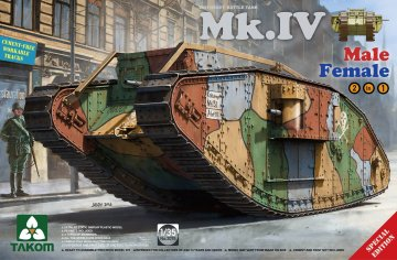 WWI Heavy Battle Tank Mk.IV 2 in 1 (Special Edition) · TAK 2076 ·  Takom · 1:35