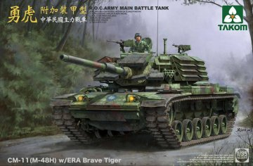 R.O.C.Army CM-11(M-48H)w/ERA Brave Tiger MBT · TAK 2091 ·  Takom · 1:35