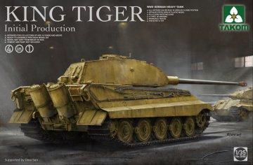 German Heavy Tank King Tiger initial production 4 in 1 · TAK 2096 ·  Takom · 1:35