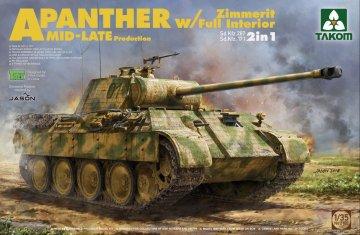 WWII German medium Tank Sd.Kfz.171/267 Panther A Mid/late production · TAK 2100 ·  Takom · 1:35