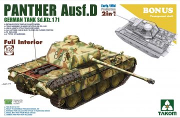Sd.Kfz.171 Panther Ausf.D Early/Mid production w/full interior · TAK 2103 ·  Takom · 1:35