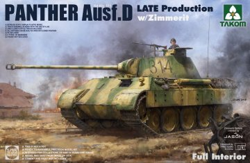 Sd.Kfz.171 Panther Ausf.D Late production w/Zimmerit · TAK 2104 ·  Takom · 1:35