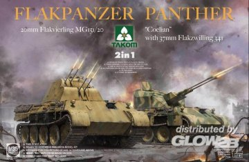 Flakpanzer Panther Coelian - 37mm Flakzwilling 341 & 20mm Flakvierling MG151/20 · TAK 2105 ·  Takom · 1:35