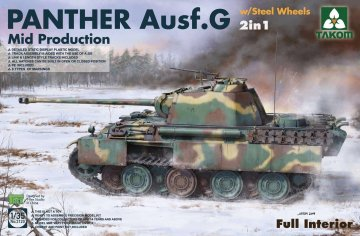 Panther Ausf.G Mid production w/Steel Wheels (2 in 1) · TAK 2120 ·  Takom · 1:35
