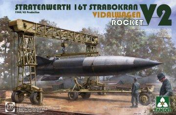 Stratenwerth 16th Strabokran - V-2 Rocket - Vidalwagen (1944/45) · TAK 2123 ·  Takom · 1:35