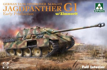 Sd.Kfz.173 Jagdpanther G1 early production w/Zimmerit & full interior · TAK 2125 ·  Takom · 1:35