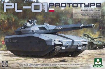 Polish PL-01 Prototype light tank · TAK 2127 ·  Takom · 1:35
