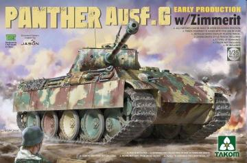 Panther Ausf.G Early Production w/Zimmerit · TAK 2134 ·  Takom · 1:35