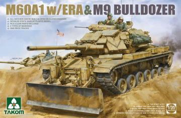 M60A1 w/ERA & M9 Bulldozer · TAK 2142 ·  Takom · 1:35