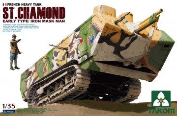 French Heavy Tank St.Chamond Early Type · TAK 35002 ·  Takom · 1:35