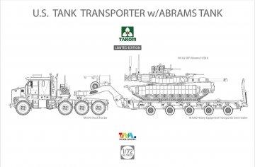 U.S. M1070 & M1000 70 Ton Tank Transporter w/Abrams Tank -  Limited Edition · TAK 5002X ·  Takom · 1:72