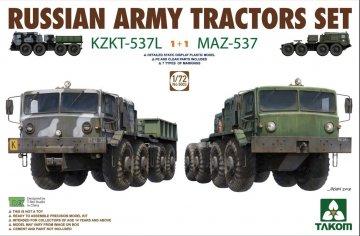 Russian Army Tractors - KZKT-537L & MAZ537 1+1 · TAK 5003 ·  Takom · 1:72