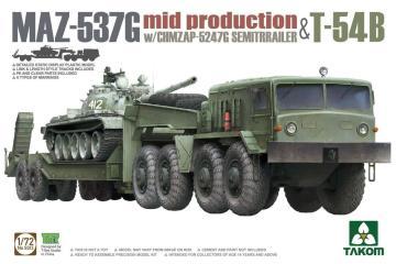 MAZ-537G w/ChMZAP-5247G - Semi-trailer mid production & T-54B · TAK 5013 ·  Takom · 1:72