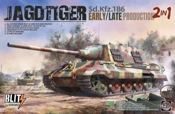 Sd.Kfz.186 Jagdtiger early/late production (2in1) · TAK 8001 ·  Takom · 1:35