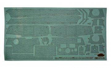 KingTiger Henschel Zimmerit Bogen · TA 12648 ·  Tamiya · 1:35