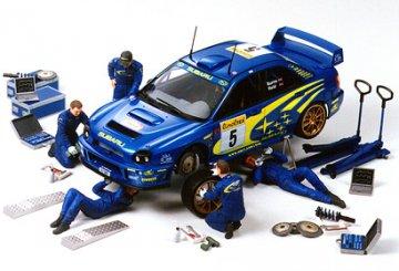 Figuren-Set Rally Mechaniker (5) · TA 24266 ·  Tamiya · 1:24