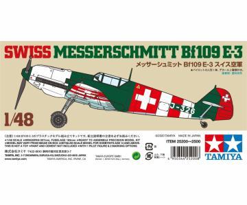 Messerschmitt Me Bf 109 E-3 Schweiz · TA 25200 ·  Tamiya · 1:48