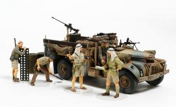 Britischer LRDG Befehlswagen mit 7 Fig. · TA 32407 ·  Tamiya · 1:35