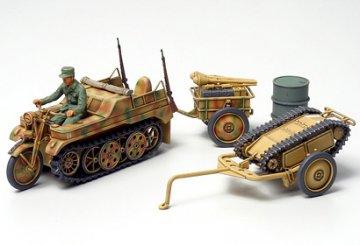 WWII Dt. Kettenkrad m.Goliath · TA 32502 ·  Tamiya · 1:48