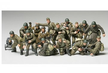 WWII Russian Infantry & Tank Crew Set · TA 32521 ·  Tamiya · 1:48