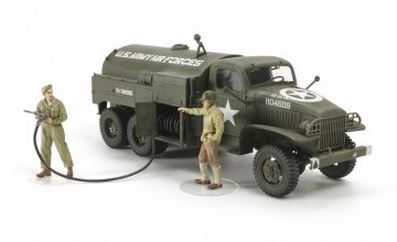 US WWII 2,5to 6x6 Flugfeld Tankwagen (2 Figuren) · TA 32579 ·  Tamiya · 1:48