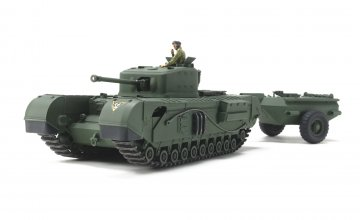 Brit.Pz. Churchill Mk.VII Crocodile · TA 32594 ·  Tamiya · 1:48