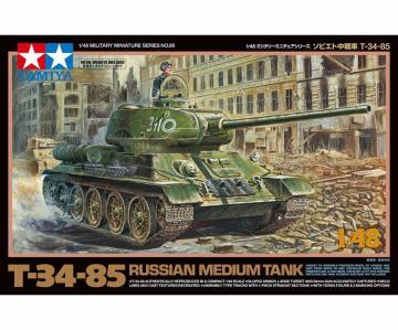 Russischer Mit. Pz. T-34/85 · TA 32599 ·  Tamiya · 1:48