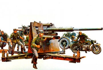 German 8,8 mm Gun Flak 36/37 · TA 35017 ·  Tamiya · 1:35