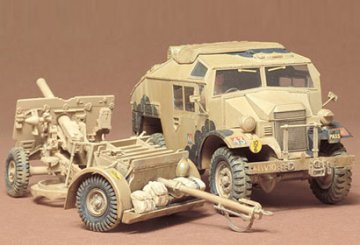 BR.25 pdr Gun & Quad Tractor · TA 35044 ·  Tamiya · 1:35