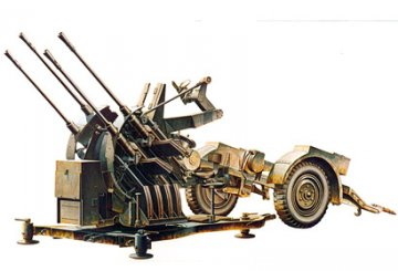 German 2 cm Flakvierling 38 Sd.Ah. 52 · TA 35091 ·  Tamiya · 1:35