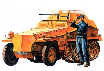 German Sd.Kfz. 250/9 · TA 35115 ·  Tamiya · 1:35