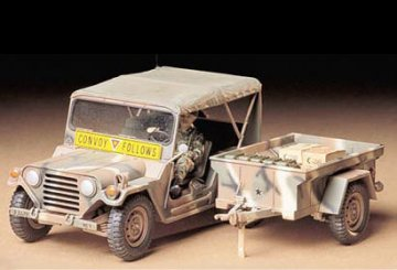 US M151A2 Ford Mutt with Cargo Trailer · TA 35130 ·  Tamiya · 1:35