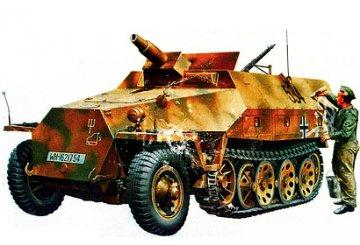 German Sd.Kfz. 251/9 Ausf. D, Kanonenwagen · TA 35147 ·  Tamiya · 1:35