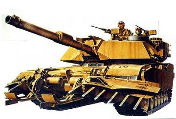 US M1A1 Abrams Minensucher · TA 35158 ·  Tamiya · 1:35