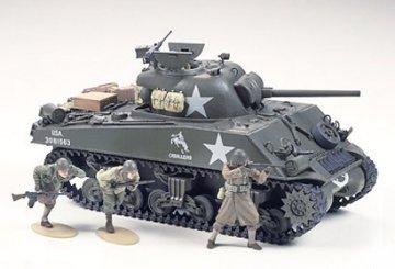US Medium Tank M4A3 Sherman 75 mm Gun, Late Production (Frontline Breakthrough) · TA 35250 ·  Tamiya · 1:35