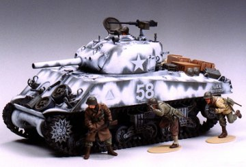US Medium Tank M4A3 Sherman 105 mm Howitzer (Assault Support) · TA 35251 ·  Tamiya · 1:35
