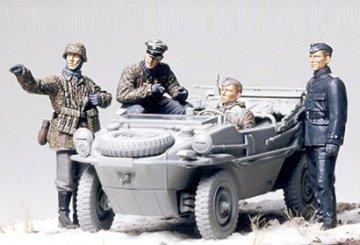 German Panzer Division, Frontline Reconnaissance Team (Schwimmwagen) · TA 35253 ·  Tamiya · 1:35