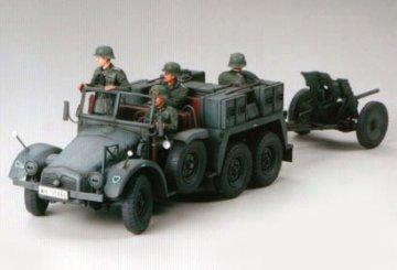 Krupp Protze 1ton (6x4) Kfz. 69 Towing Truck with 3.7 cm Pak · TA 35259 ·  Tamiya · 1:35
